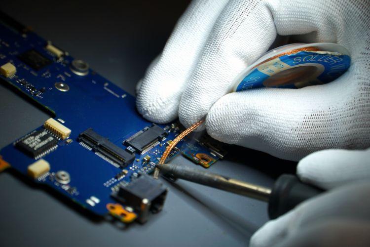 Fotografía de reparación hardware SISCOM. Fotografía de producto.