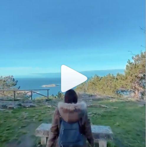 Portada del vídeo de Instagram de Bárbara Calvo. Vista de Nigrán e islas.
